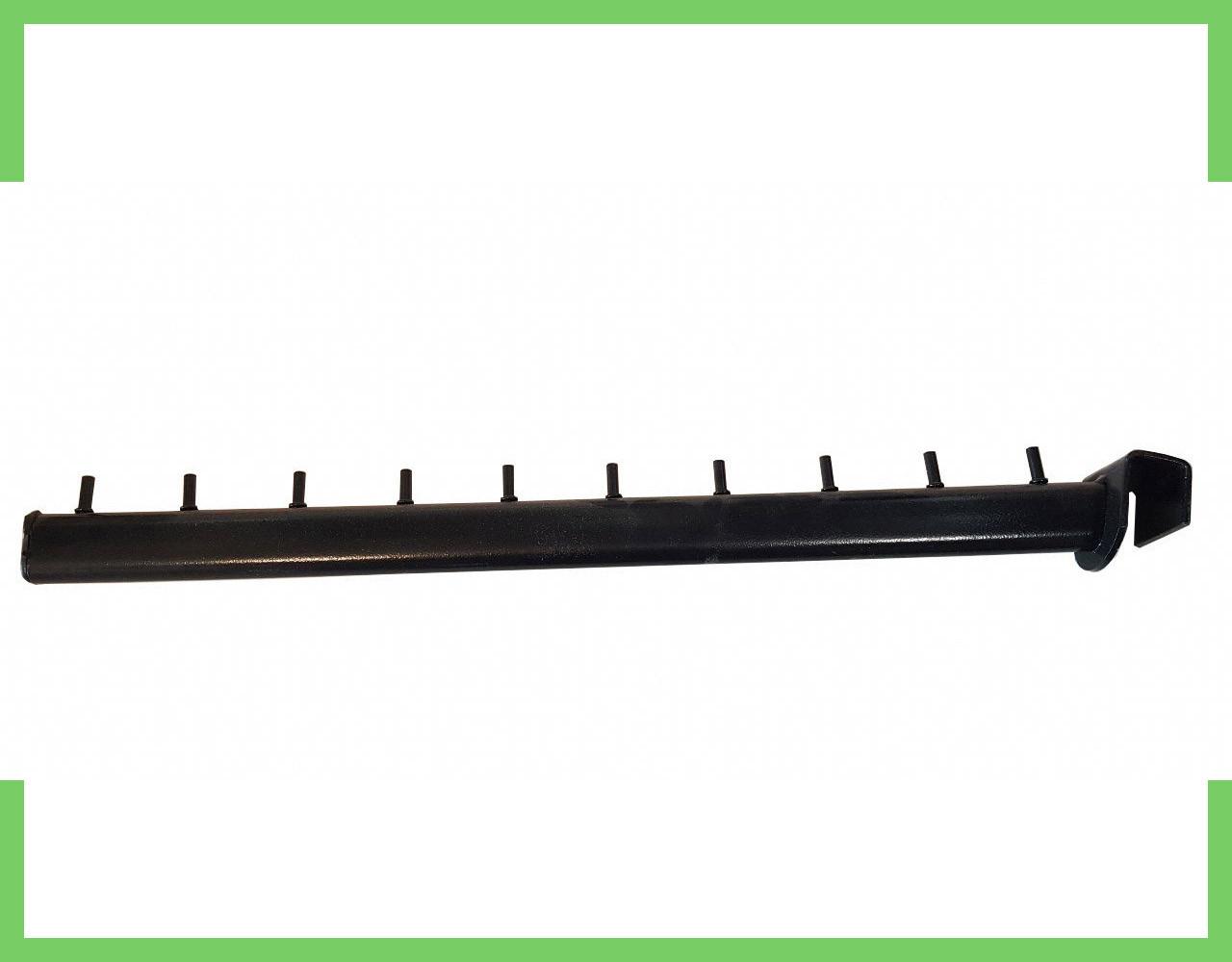 Кронштейн (Флейта) на перемычку, на 20 квадрат, чёрный 45см (10 гвоздиков)