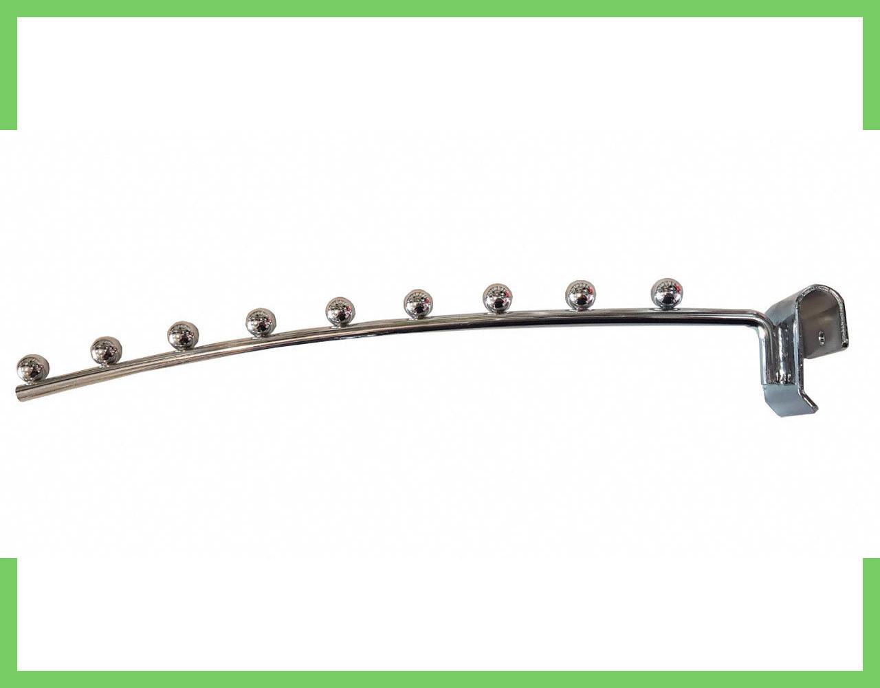 Кронштейн (Флейта) на перемычку, полумесяц, 35см хром (9 шариков)