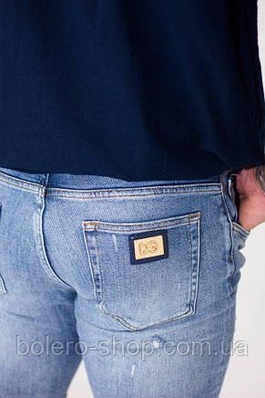 Джинсы мужские Dolce&Gabbana  светло-голубые , фото 2