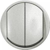 Celiane Лицьова панель вимикача 2-клавішного Титан