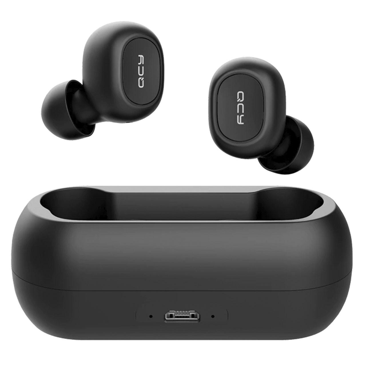✦Беспроводная TWS гарнитура QCY T1 Black спортивные наушники Bluetooth V5.0 аккумулятор 380mAh IPX4