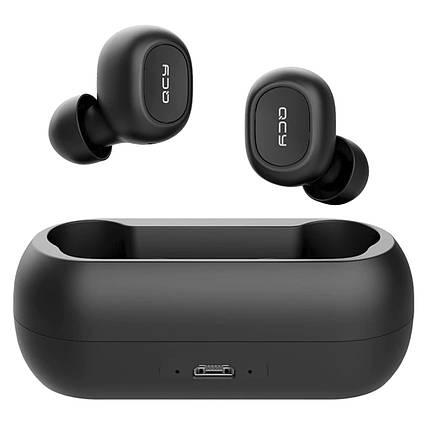 ✦Беспроводная TWS гарнитура QCY T1 Black спортивные наушники Bluetooth V5.0 аккумулятор 380mAh IPX4, фото 2