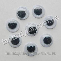 Круглый глаз для игрушек 7мм с подвижным зрачком