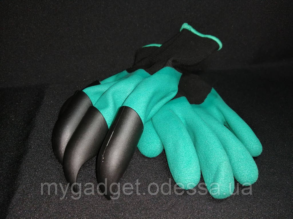 Садовые перчатки Garden Gloves с пластиковыми наконечниками