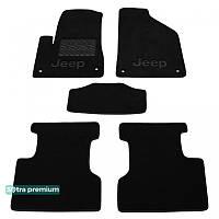 Текстильные коврики Jeep Cherokee (KL) 2013- (ST 08730-CH-Black) | Автоковрики Sotra