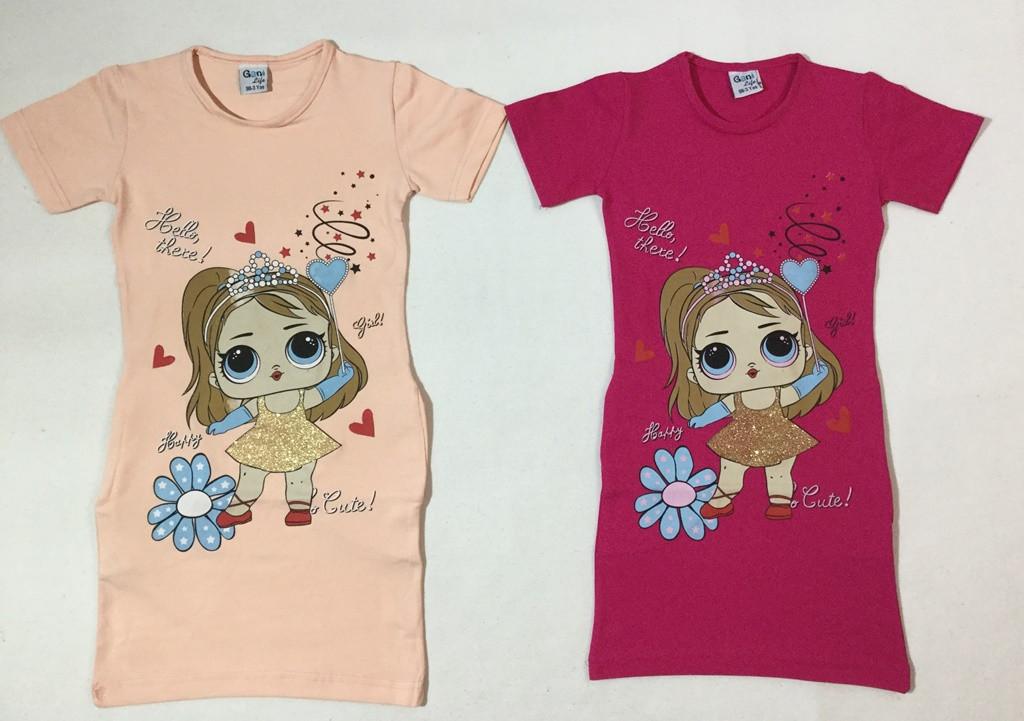 Туничка-платье Куколки Лол на возраст  3- 6 лет