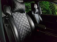 Накидки на сиденья из экокожи черные. Передний комплект. СТАНДАРТ. Авточехлы