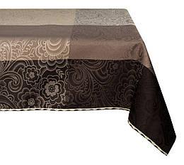 Дорожка на стол (раннер) Тефлоновая Cafe 215 Br Орнамент Mesa Witold 2653 50x100 см Бежевая, Коричневая