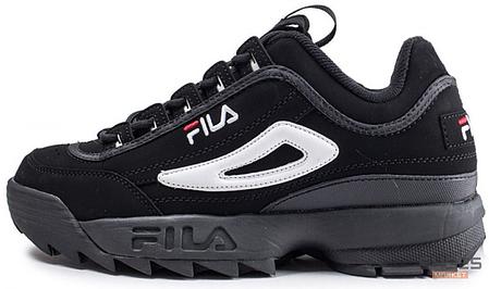 Женские кроссовки Fila Disruptor II Black/White 1010490 12V, Фила Дизраптор, фото 2