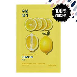 Тканевая маска для лица с экстрактом лимона HOLIKA HOLIKA Pure Essence Mask Sheet Lemon
