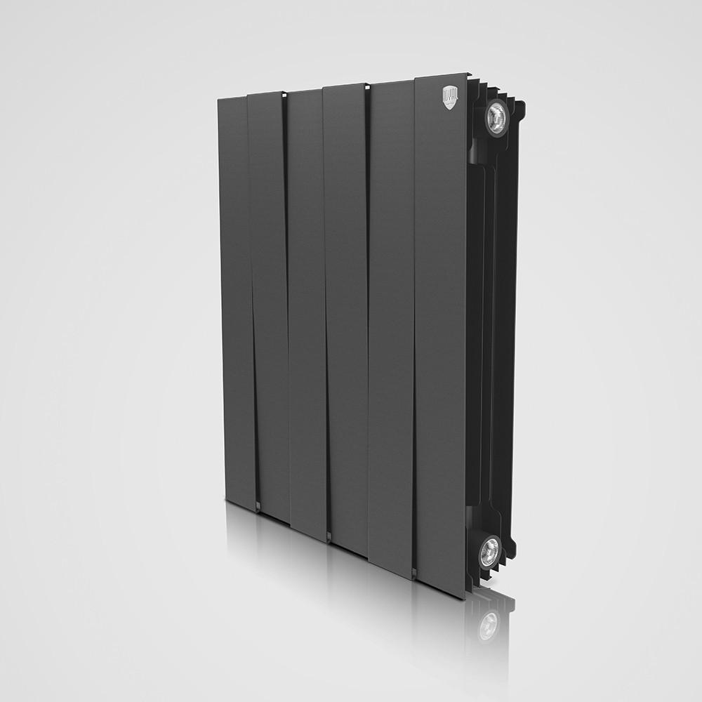 ROYAL TERMO Біметалічний радіатор Piano Forte 591x 480 мм, Black 6 секції