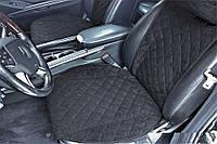 Накидки на сиденья черные. Передний комплект. ШИРОКИЕ. Авточехлы
