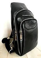 Кожаная сумка Мужская На Плечо. Мужской рюкзак Бонд. Барсетка Bond. РБ7