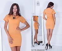 Делікатне літнє плаття-футляр з бенгалина з кишенями Yorkshire