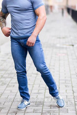 Джинсы мужские Armani голубые, фото 2