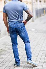 Джинсы мужские Armani голубые, фото 3