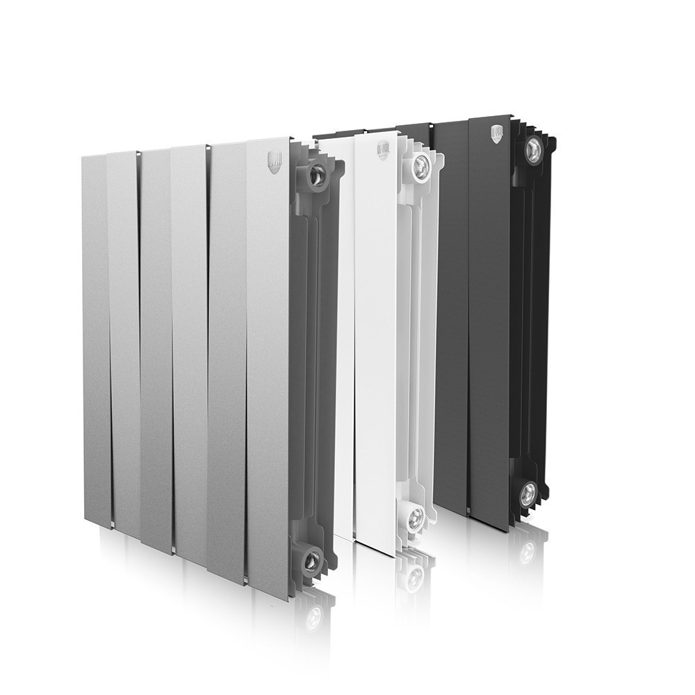 ROYAL TERMO Біметалічний радіатор Piano Forte 591x 320 мм, Silver 4 секції