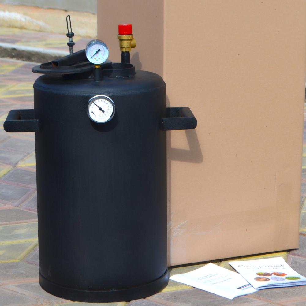 Автоклав бытовой для консервирования Троян-24 с датчиками и книгой рецептов на 10 л банок огневой