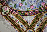 Северные цветы 736-1, павлопосадский платок (жаккард) шелковый с подрубкой, фото 6