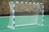 Сетка для гандбола ( мини-футбол) капрон 2*3 ,диаметр- 1,2мм , ячейка 12 см.( белая, желто -синяя)