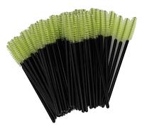 Щеточки для расчесывания ресниц салатовые с чёрной ручкой, 50 шт. в упаковке, фото 1