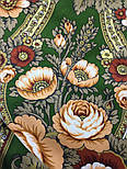 Посадский 874-10, павлопосадский платок (шаль) из уплотненной шерсти с шелковой вязаной бахромой, фото 5