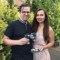 Свадебные бокалы пластиковые многоразовые,  красивые, плотные  для свадьбы CFP 6 шт 130 мл, фото 1