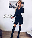 Женский стильное платье-пиджак с поясом (в расцветках), фото 9