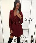 Женский стильное платье-пиджак с поясом (в расцветках), фото 4