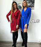 Женский стильное платье-пиджак с поясом (в расцветках), фото 2