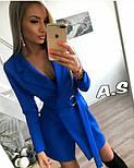 Женский стильное платье-пиджак с поясом (в расцветках), фото 3
