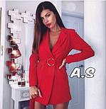 Женский стильное платье-пиджак с поясом (в расцветках), фото 7
