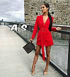 Женский стильное платье-пиджак с поясом (в расцветках), фото 8