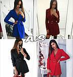 Женский стильное платье-пиджак с поясом (в расцветках), фото 10