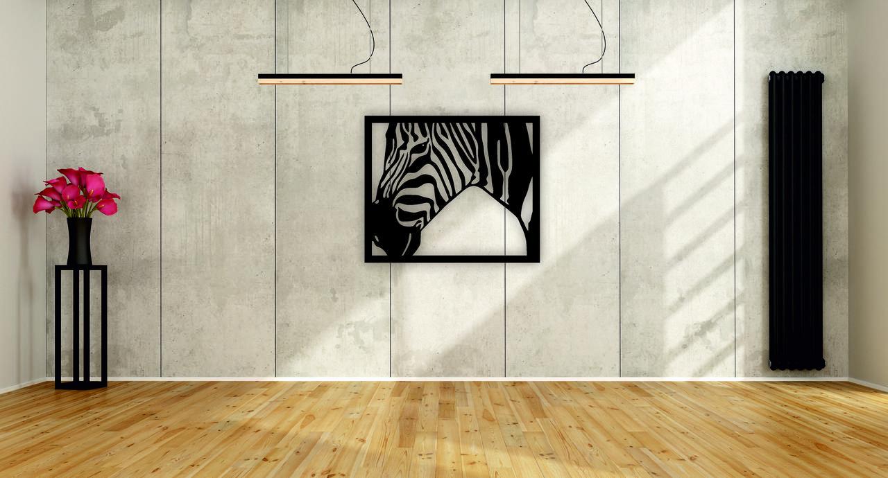Деревянный декор на стену WHICH.BLACK Зебра (75x63 см)
