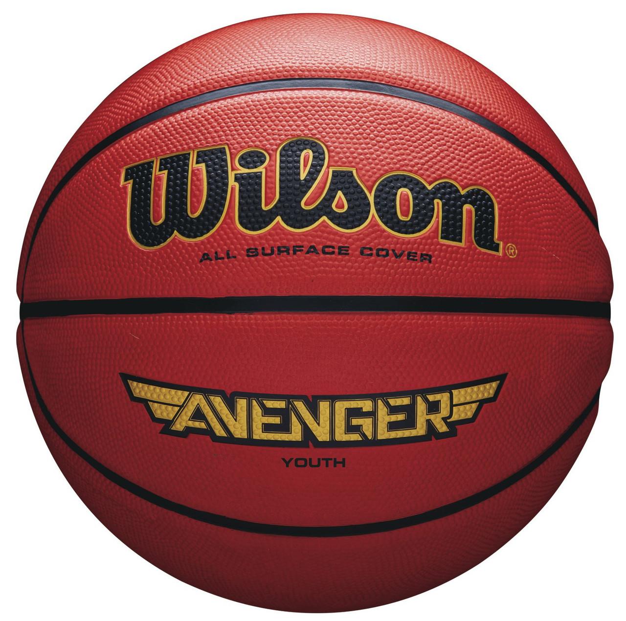 Мяч баскетбольный Wilson AVENGER 275 BSKT размер 5 резиновый коричневый (WTB5550XB05)