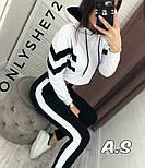 Женский стильный спортивный/повседневный костюм: штаны с высокой посадкой, кофта укорочена (в расцветках), фото 3
