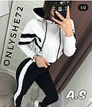 Женский стильный спортивный/повседневный костюм: штаны с высокой посадкой, кофта укорочена (в расцветках), фото 10