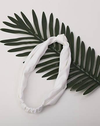 Повязка-узелок белая, фото 2