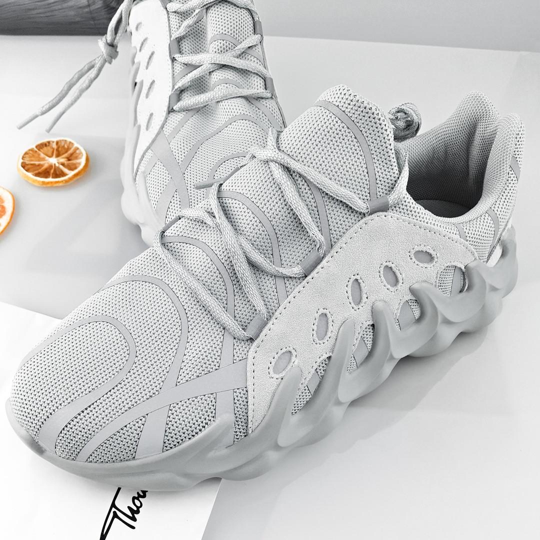 """Мужские кроссовки в стилеAdidas Yeezy 451""""White/Gray""""  ( в стиле Найк )"""