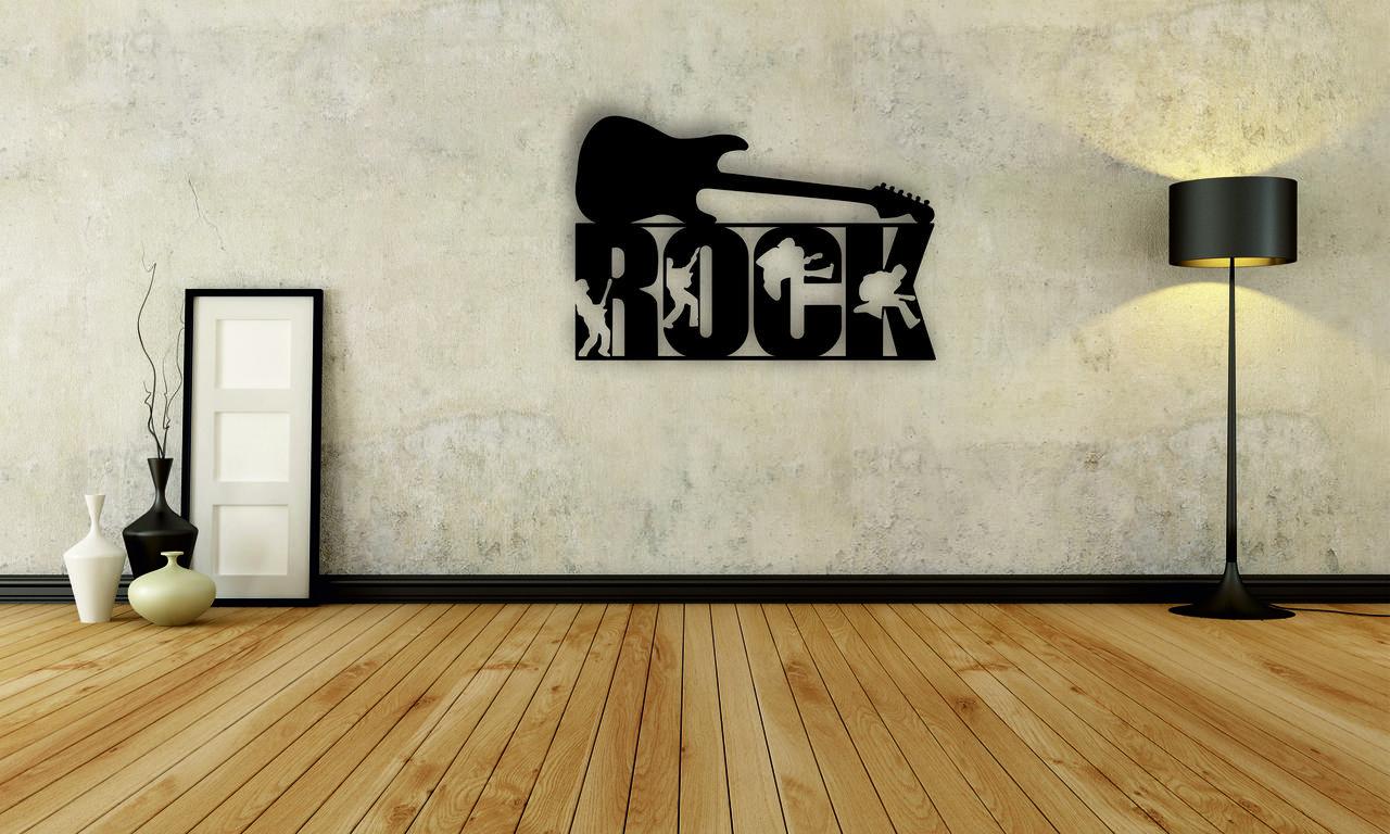Деревянный декор на стену WHICH.BLACK Рок (75x50 см)