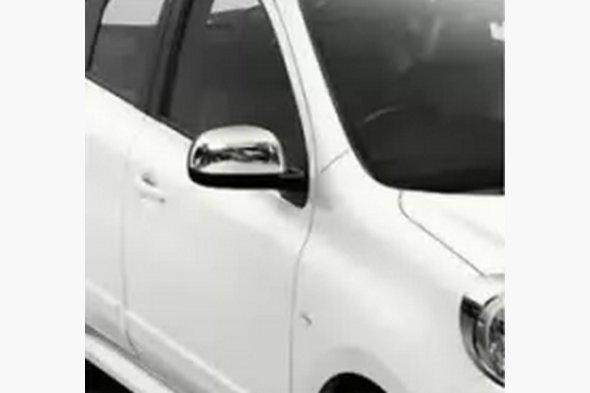 Накладки на дзеркала (2 шт., нерж) Nissan Note 2013↗ рр.