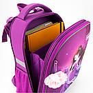 Рюкзак школьный каркасный Kite Education Princess 20 л Фиолетовый (K19-531M-1), фото 7