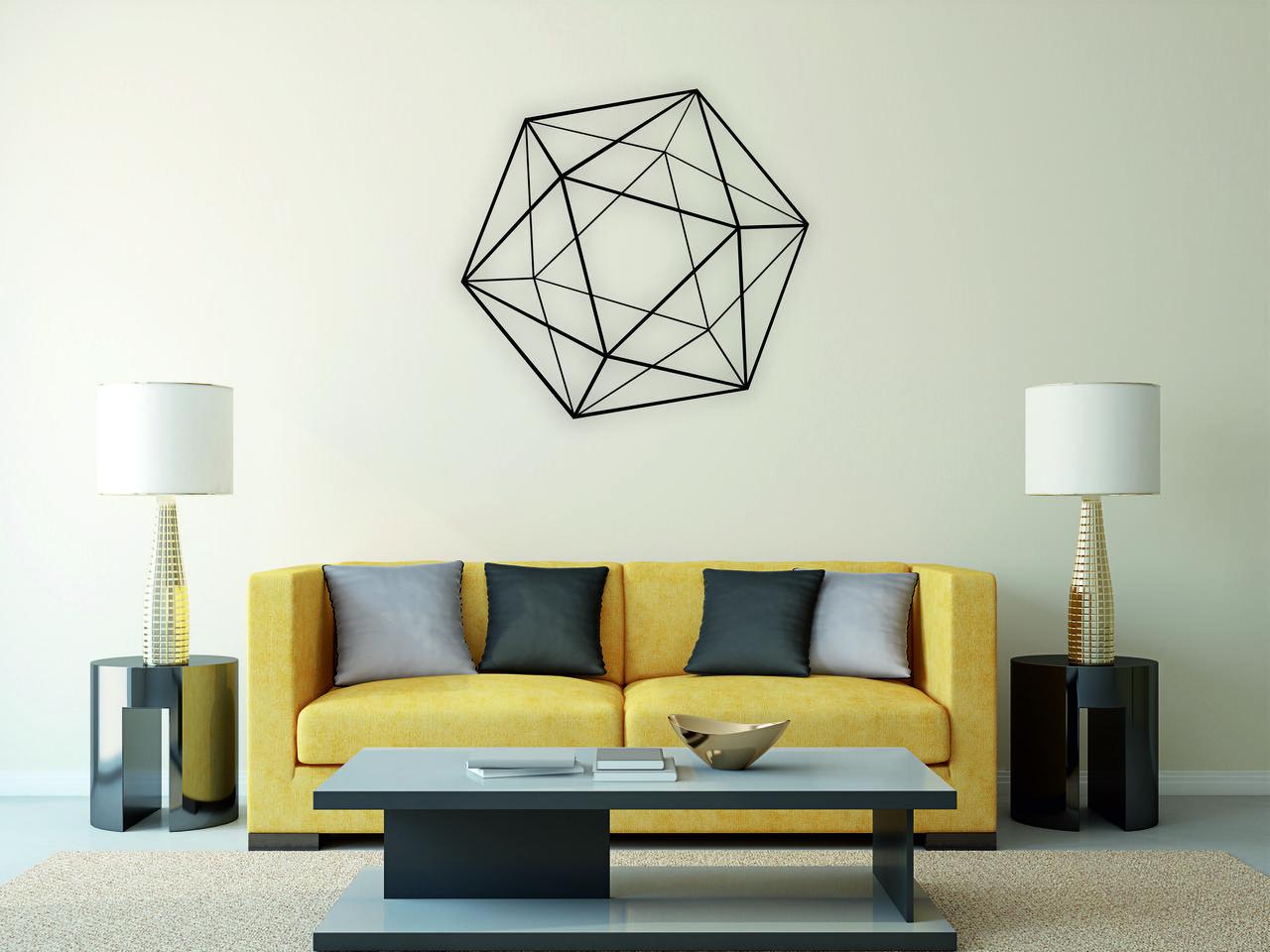 Деревянный декор на стену WHICH.BLACK Абстракция (75x71 см)