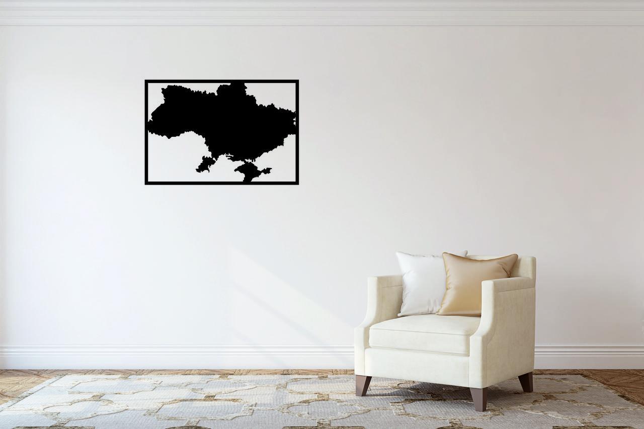 Деревянный декор на стену WHICH.BLACK Украина (75x51 см)