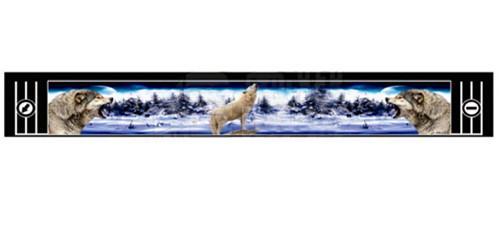 """Брызговик резиновый универсальный для грузовой прицепной техники с декоративным рисунком """"ВОЛКИ ВОЮТ""""(8678)"""