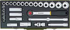 """Набор торцевых головок с трещоткой Proxxon 1/2"""", 8-34 мм, 29 позиций (23000)"""