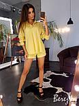 Женский льняной костюм: рубашка и шорты (в расцветках), фото 3