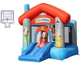 """Детский надувной батут игровой центр аттракцион """"Весёлый домик"""" Happy Hop"""