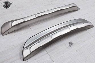 Юбки накладки на бампера обвес Mazda CX-5 (нержавейка)